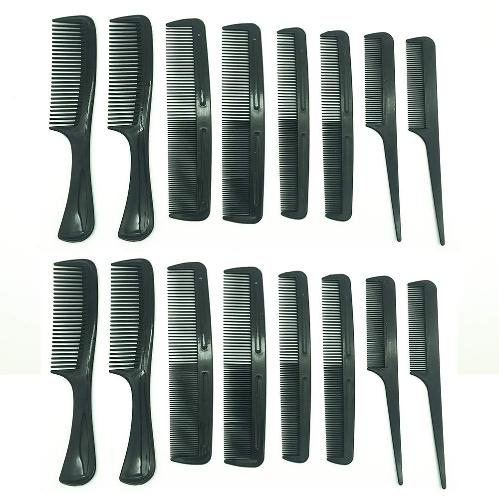 16pcs Professional Hairdressing Comb by Glamorize | 2 x 8pcs Hairdresser Hair Comb Set