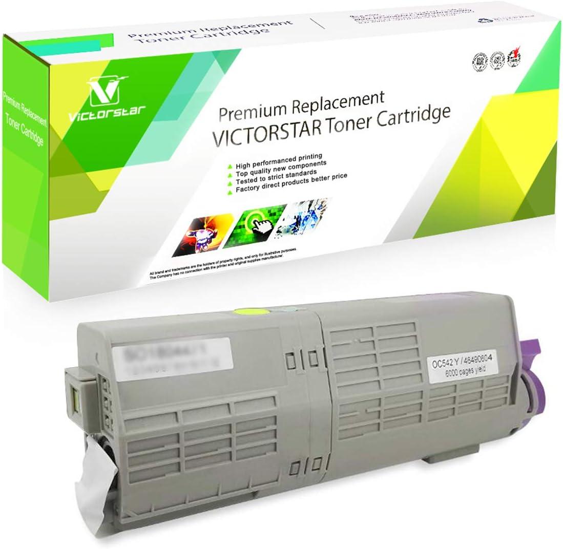 Compatible Toner Cartridge C532 C542 MC563 MC573 C532dn C542dn MC563dn MC573dn Series Black 46490604 VICTORSTAR 7000 Pages for Black for OKI C532dn C542dn MC563dn MC573dn Color Laser Printers