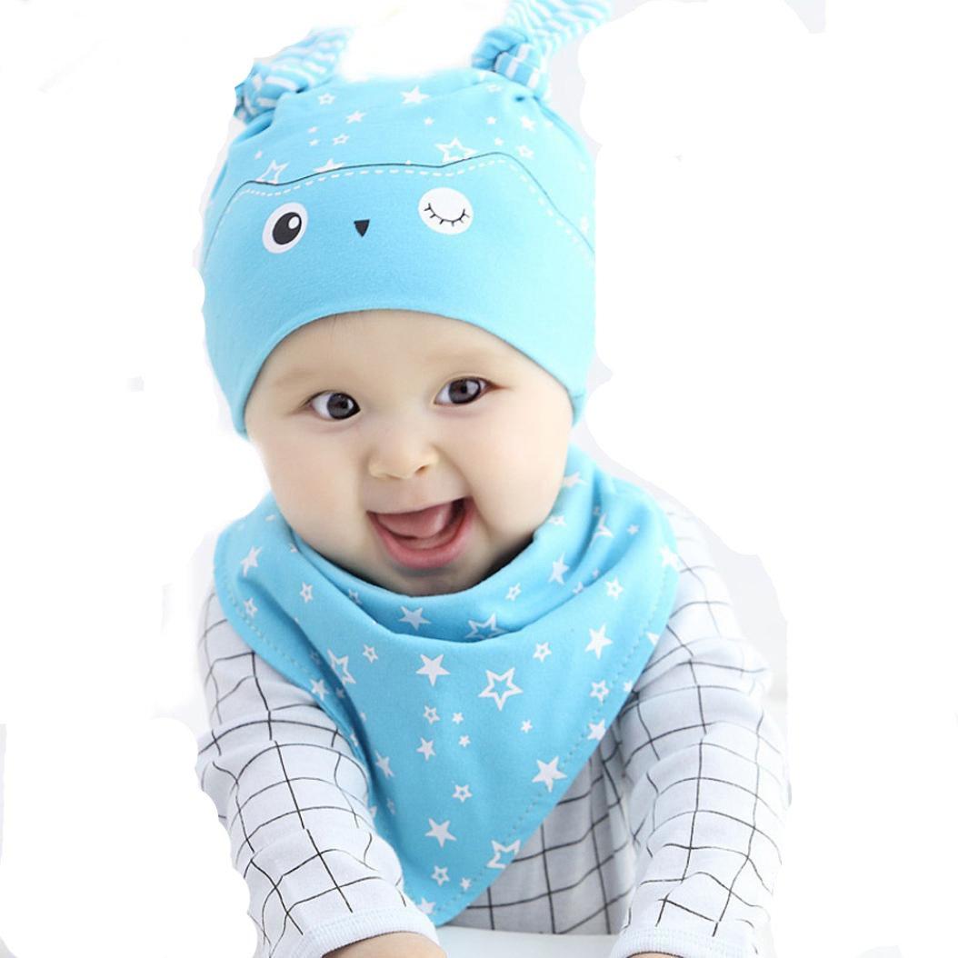 Malloom® Baby Mädchen 2 STÜCKE Set Hut + Bandana Lätzchen Speichel ...