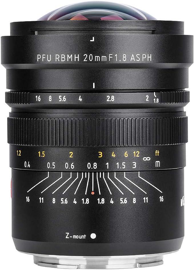 Viltrox 20 Mm F 1 8 Asph Für Nikon Z Mount Lichtstarke Vollformat Weitwinkel Festbrennweite Ideal Für
