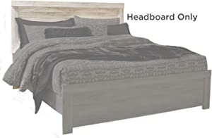 Signature Design by Ashley Bellaby King Panel Headboard, Whitewash