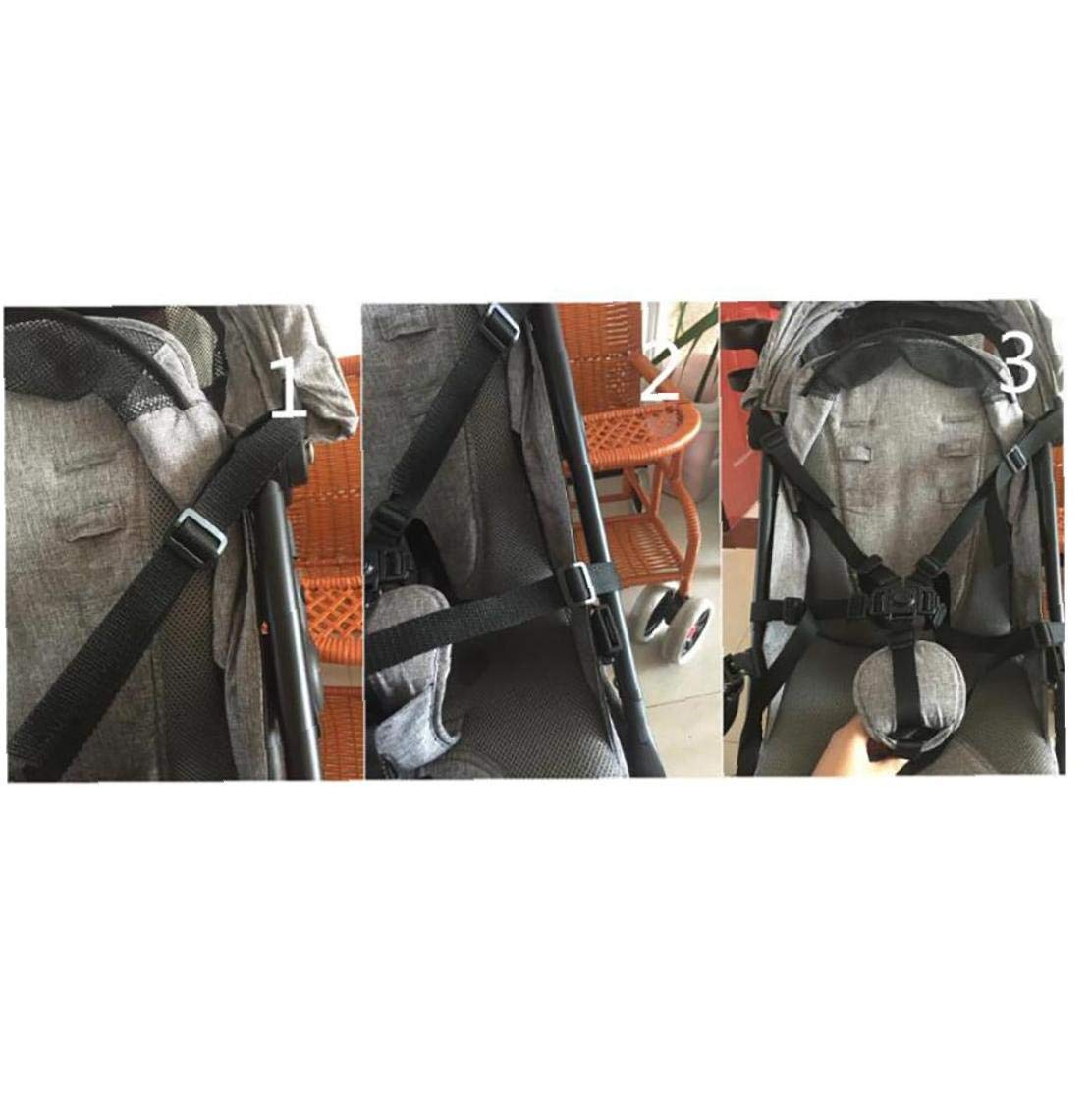 TOPofly 1PC G/ürtel Universal-Kind 5-Punkt-Gurt Einstellbare Kid Safe Travel G/ürtelclip F/ür Kinderwagen Stuhl Rollstuhl-Buggy-Spazierg/änger Kinder Rot