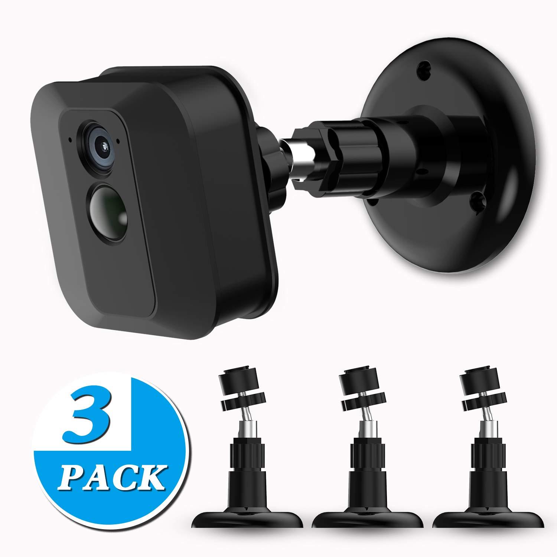 Blink XT Kamera-Wandhalterung, Kunststoff, 360 Grad verstellbar, fü r Blink XT Home Sicherheitskamerasystem, Schwarz, 3 Stü ck MASCARRY