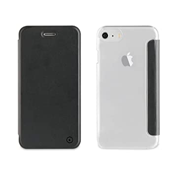 f5c94359567 Muvit Folio - Funda con Parte Trasera Transparente para Apple iPhone  8/7/6S/6, Color Negro: Amazon.es: Electrónica