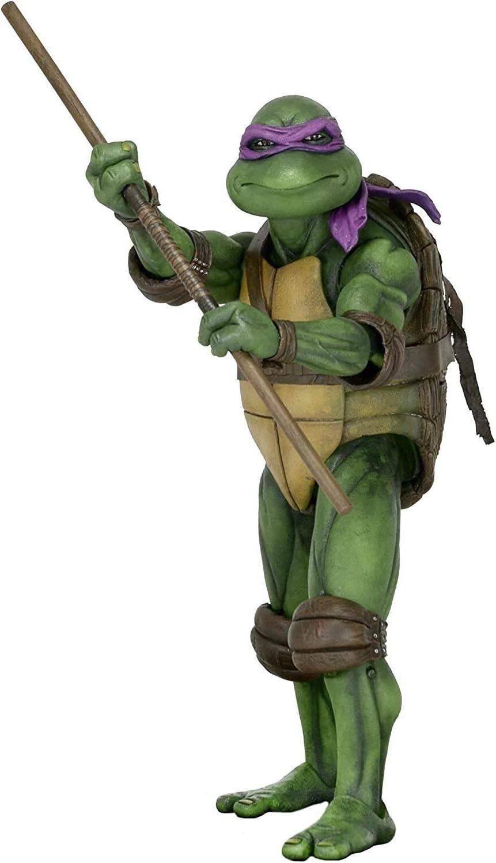 Neca - tartaruga ninja gigante donatello tmnt scala 1/4 action figure teenage mutant ninja turtles 54039
