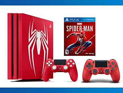 PlayStation 4 Pro 1TB Limited Edition Console – Marvel s Spider-Man DualShock 4 Wireless Magma Red Controller NBA 2K17 Bundle 3 – Items