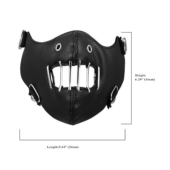Amazon.com: Aroncent - Máscara antipolvo de piel sintética ...