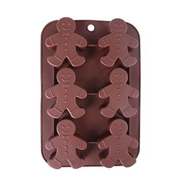 Generic silicona Chocolate moldes moldes de hombre de Jengibre se puede lavar en lavavajillas.: Amazon.es: Hogar