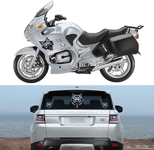 Topker T/ête de Loup de Moto Moto Voiture Porte Decal Badge Paster Film Emblem Autocollants Casque Camion D/écor