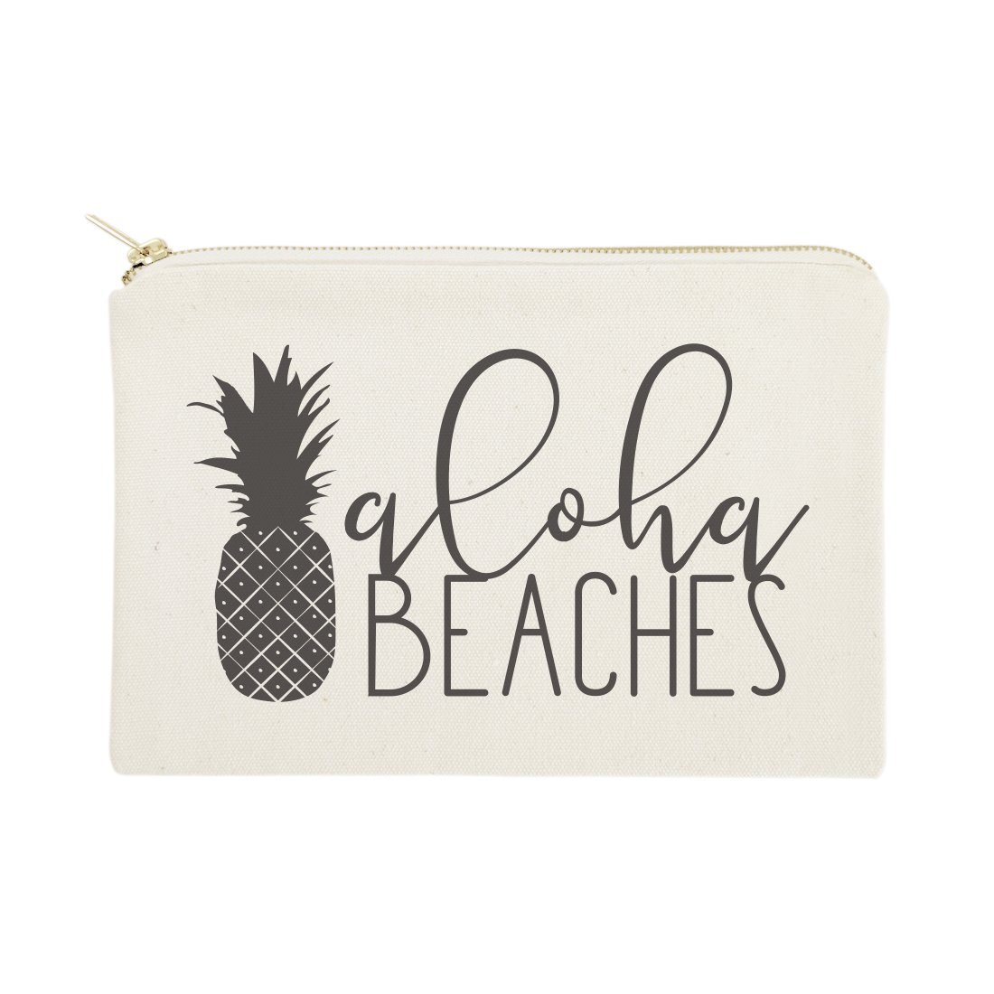 The Cotton & Canvas Co. Aloha Beaches Beach Cosmetic Bag and Travel Make Up Pouch