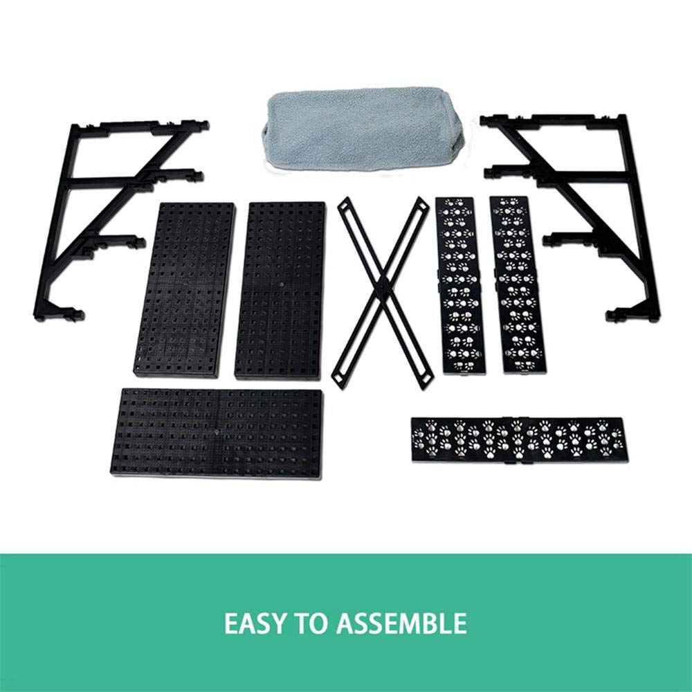 Volwco Dog//Cat Steps I Pet Gear Easy Step,Pet Stairs for Kitten//Puppy Lightweight//Portable Ramp Ladder Removable Washable Carpet Tread 3 Step for Cats//Dogs,Hold Up 50 Lbs