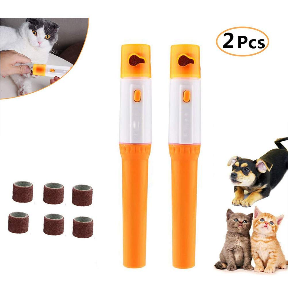 2PCS Pet Accessory Electric Pet Dog Cat Puppy Claw Toe Nail Pedicure Grinder Clipper Trimmer Tool Care Tool Pedicure