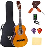 Classical Guitar Acoustic Guitar 3/4 Size 36 inch Starter Kits for Beginners Kid Student Boys Girls Guitar with Bag Strap Tuner Extra Picks Wipe