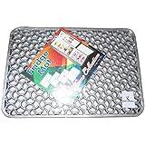Kuber Industries™ Refrigerator Drawer Mat/Fridge Mat Set of 6 Pcs (Material-Thick Plastic Grey)