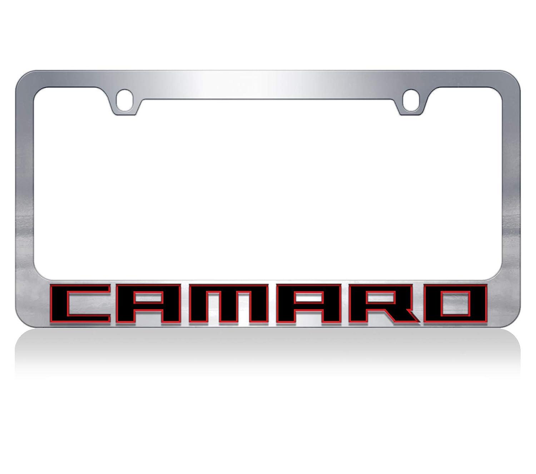 Eurosport Daytona Inc 2018 Chevrolet Camaro Word Chrome License Plate Frame