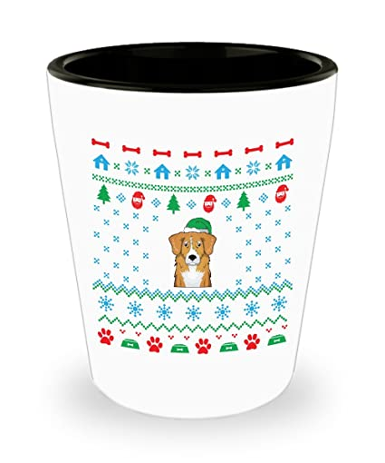 Amazon Com Nova Scotia Duck Retriever Christmas Shot Glass