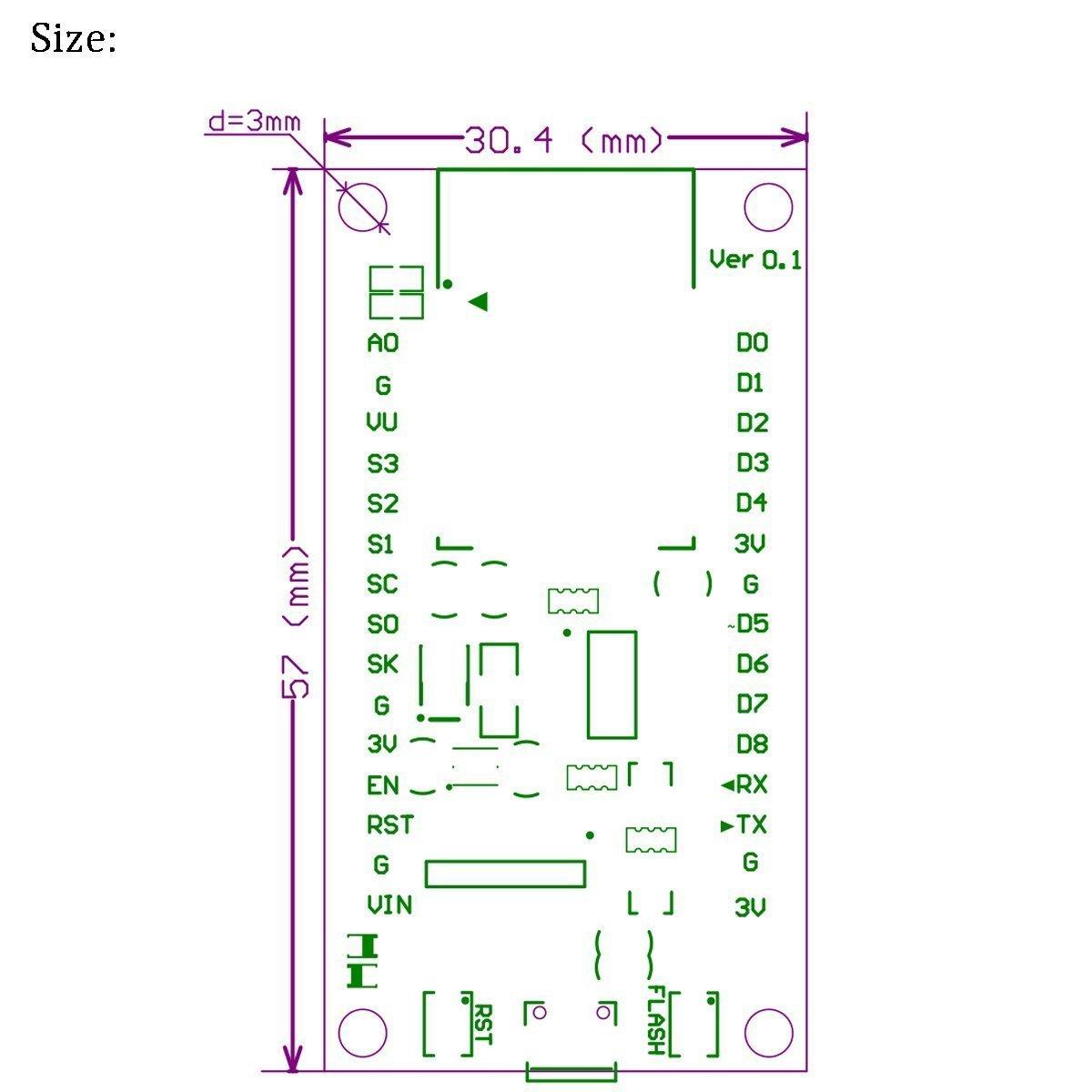 MakerFocus 2pcs ESP8266 NodeMcu Serial Wireless Arduino Wifi Module CH340 NodeMcu Arduino V3 Lua WIFI IOT Development New Version Esp8266 Development Board For Arduino Project by MakerFocus (Image #5)