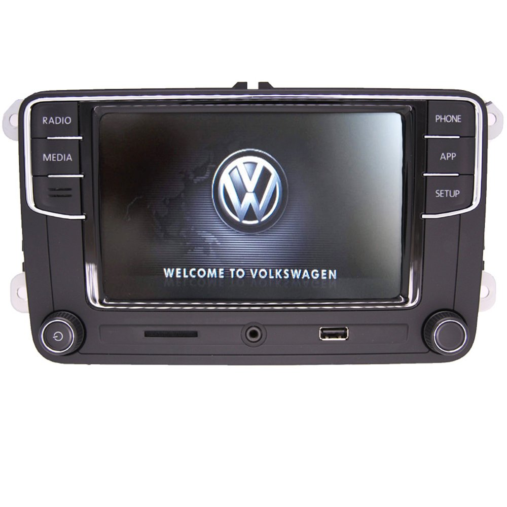 "Amazon.com: 6.5"" Car Stereo OEM MIB2 RCD330+Carplay Mirrorlink Build-in  Bluetooth RVC Aux Input, Bluetooth, SD-Card, Touchscreen, Memory Card Input  for VW ..."