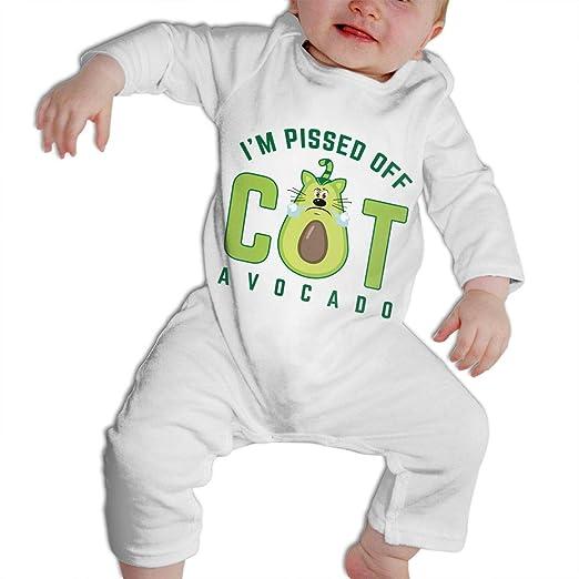 67ffcecb3 Aouhoo Baby Boys Girls Bodysuit, Angry Avocado Cat Jumpsuit Onesies Long  Sleeve Cute White