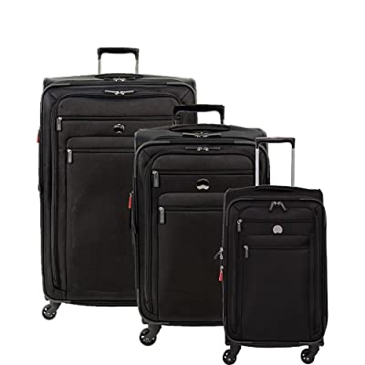 "Delsey Luggage Helium Sky 2.0 3 Piece Softside Lugage Set 21""/25""/29"""