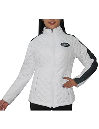 size 40 175b8 e91ec NFL New York Jets Womens Winter Zip-Up Quilted Outdoor ...