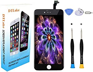 Premium Screen Replacement,Compatible iPhone 6 Plus((Model A1522, A1524, A1593), LCD Replacement Screen with Touch Screen Digitizer Fram Assembly Full Set + Free Tools(Black)