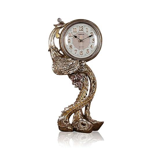 NNIU Reloj de Escritorio Phoenix, Reloj de Mesa Decorativo Vintage ...