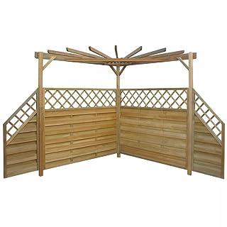SENLUOWX Pérgola de jardín de madera de pino impregnada 256x256x225 cm
