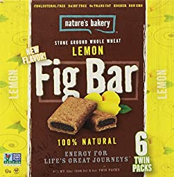 Nature\'s Bakery Whole Wheat Fig Bars - Lemon 2oz. - 6ct twin packs