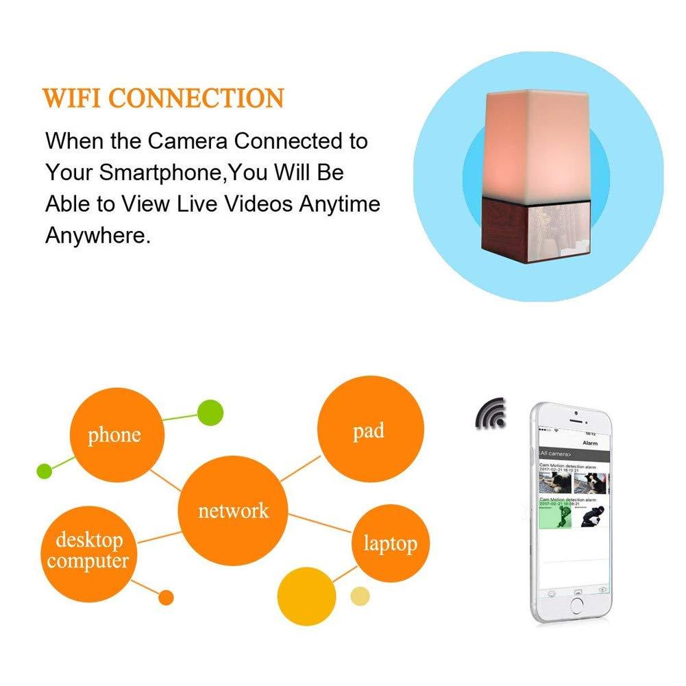 Balscw-J 1080P Noche luz Oculta Spy lámpara cámara WiFi HD ...