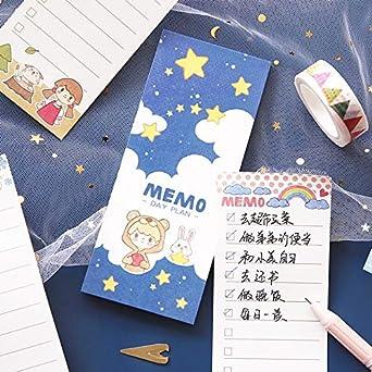 Amazon.com: 2pcs Cartoon Girl Daily Planner to do List memo ...
