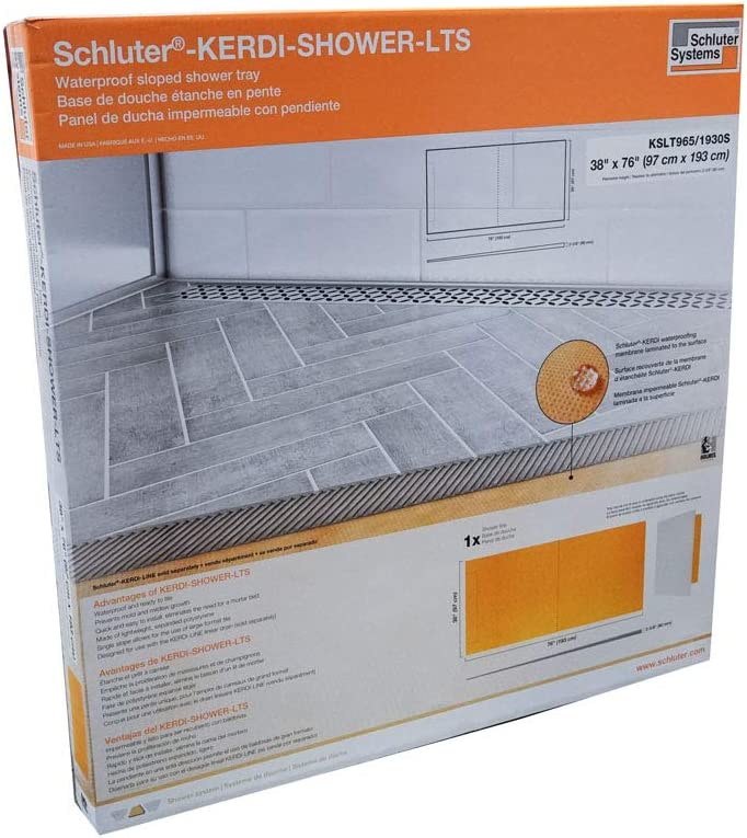 KSLT1000S 39X39 OFFSET Schluter System Kerdi Linear Shower Tray