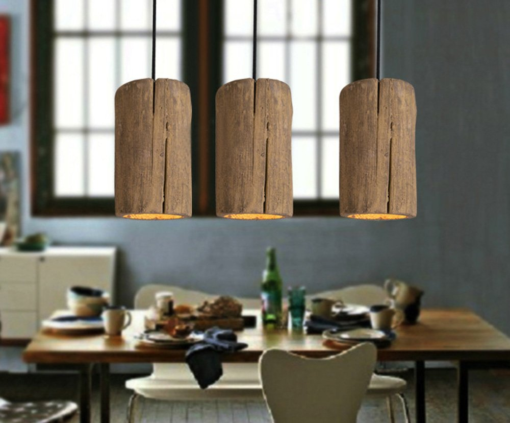 ZMH Vintage Pendelleuchte Pendellampe für E27 Glühbirne Fassung Fassung Fassung aus Beton Hängeleuchte Hängelampe Deckenleuchte für Wohnzimmer Esszimmer Restaurant Bar Flur Cafe (3er) b9958c
