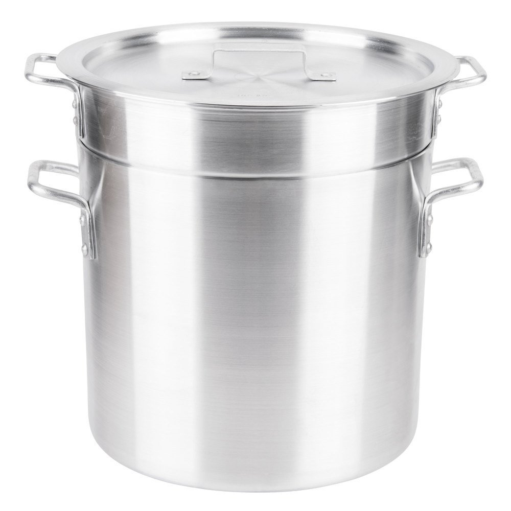 Royal Industries Double Boiler with Lid, 20 qt, 11.8'' x 11'' HT, Aluminum, Commercial Grade - NSF Certified