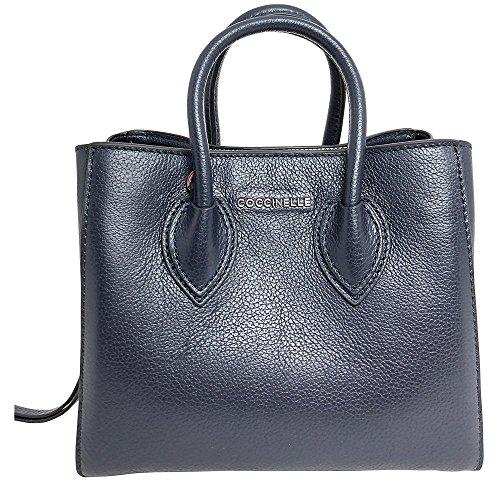 Coccinelle Damen Farisa Business Tasche, 12x17x20 cm Bleu