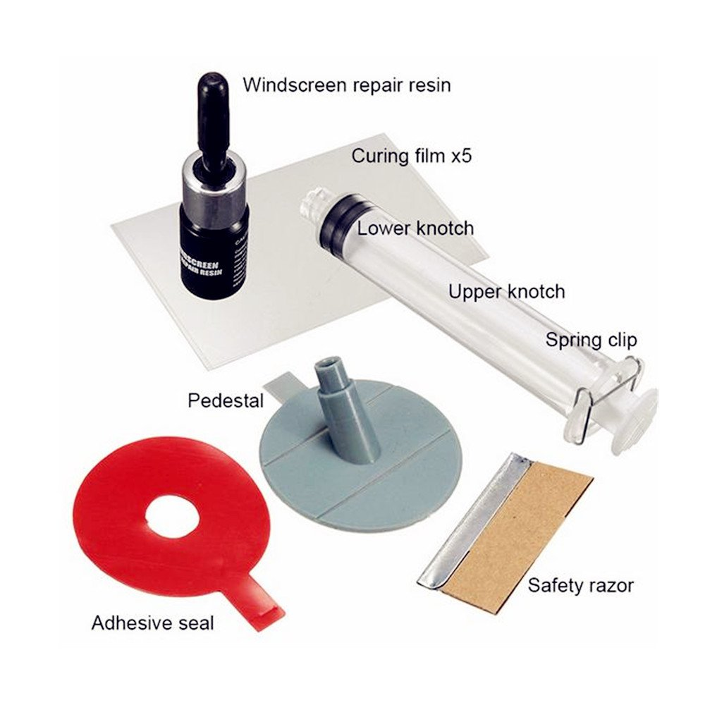Xbes DIY Car Windscreen Windshield Repair Tool Kit for Fixing Auto Wind Glass Chip & Crack by Xbes (Image #2)