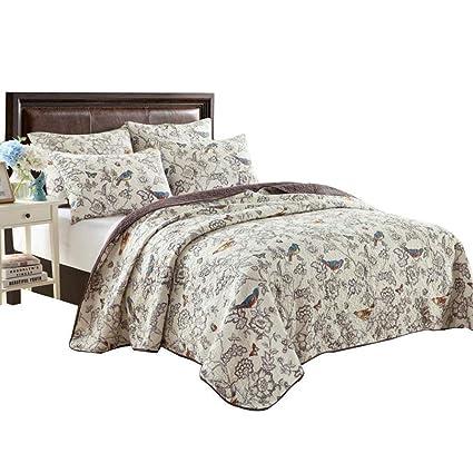 Amazon Com Eavd Antique Chic Reversible 100 Cotton 3 Pcs Bedding
