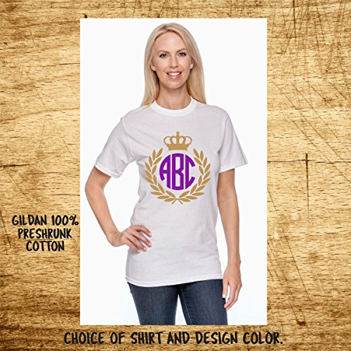 Crest & Crown Monogram T-shirt - Unisex Gildan -