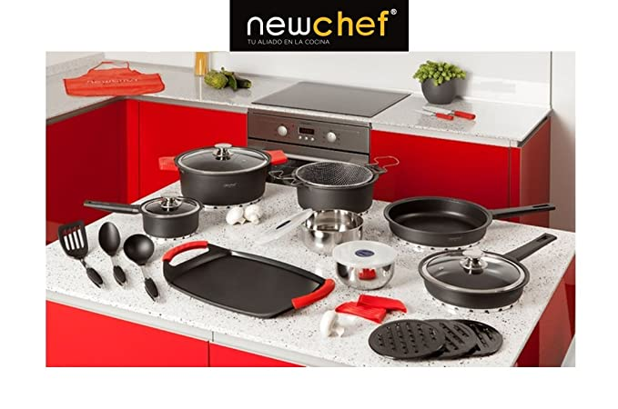 Top Shop New Chef batería de Cocina Juego de Accesorios de Cocina de ...