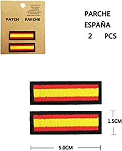 BANDERA DEL PARCHE BORDADO PARA PLANCHAR O COSER (ESPAÑA-N2): Amazon.es: Hogar