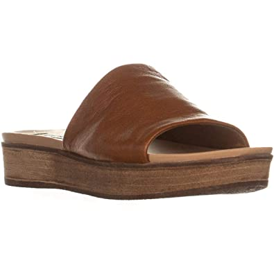9dbe2e6824 Steve Madden Womens Genca Leather Open Toe Casual Platform, Tan, Size 7.0