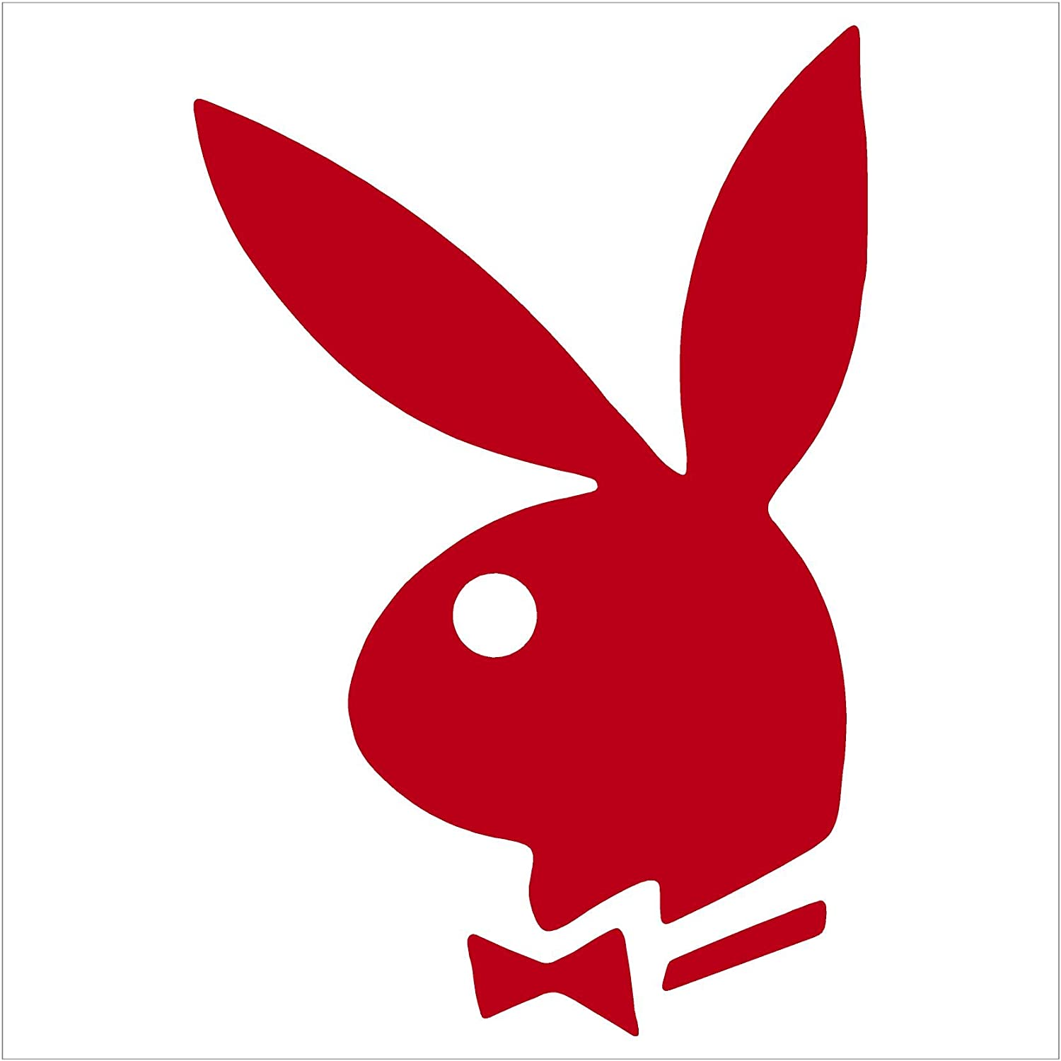 Amazon com 2 playboy bunny logo vinyl decal sticker auto car white automotive