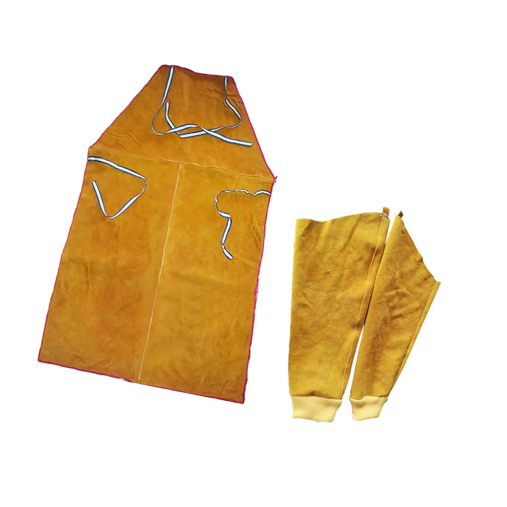 Almencla Welder Apron Welding Protective Clothing Heat Insulation Bib With Sleeves by Almencla (Image #8)