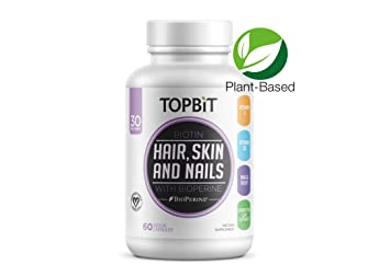 Amazon.com: TOPBiT Hair, Skin, Nail Health Supplement with Biotin ...