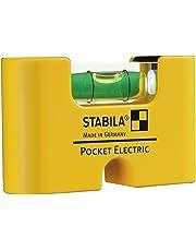STABILA Wasserwaage Pocket Electric, 7 cm, mit Seltenerd-Magnetsystem
