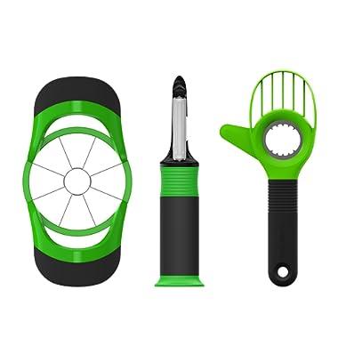 Beyetori Kitchen Fruit Tools Gadgets Set, Avocado Slicer, Apple Corer Cutter and Vegetable Peeler