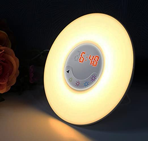 Wake up Light Sunrise Alarm Clock Digital Sunrise Simulation with Bluetooth  4.0 Speaker c90640be2