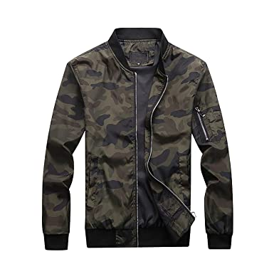 3e86fc2772dbc Men's Camouflage Jackets Male Coats Camo Bomber Jacket Mens Outwear Plus  Size M-7XL at Amazon Men's Clothing store: