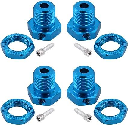 set of 4 Traxxas 5853X Blue-Anodized Aluminum 17mm Wheel Hub adapters,