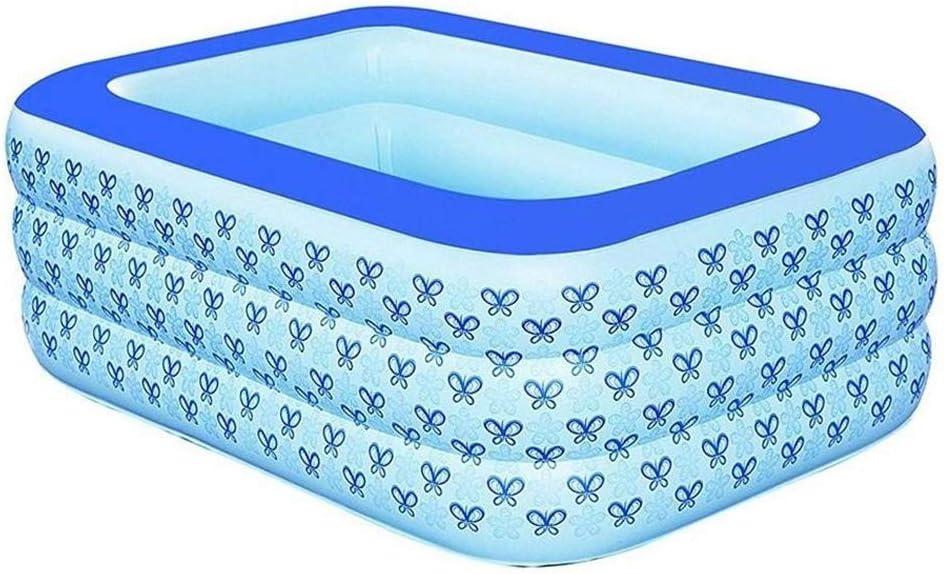 YQJJZX Bañera Inflable for Adultos Engrosada, bañera Plegable del hogar, plástico Piscina climatizada de 130 * 85 * 50cm